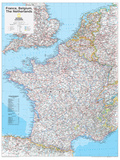 2014 France Belgium Netherlands - National Geographic Atlas of the World  10th Edition