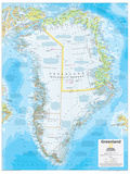 2014 Greenland - National Geographic Atlas of the World, 10th Edition Reproduction d'art