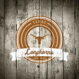 Texas Longhorns Logo on Wood