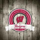 Wisconsin Badgers Logo on Wood