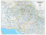 2014 Afghanistan Pakistan - National Geographic Atlas of the World, 10th Edition Reproduction d'art
