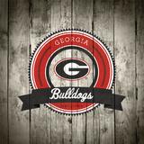 Georgia Bulldogs Logo on Wood