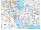 2014 Iraq and Iran - National Geographic Atlas of the World, 10th Edition Reproduction d'art