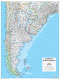 2014 Southern South America - National Geographic Atlas of the World, 10th Edition Reproduction d'art