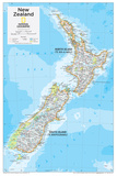 2014 New Zealand - National Geographic Atlas of the World, 10th Edition Reproduction d'art par National Geographic Maps