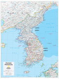 2014 Korean Peninsula - National Geographic Atlas of the World, 10th Edition Reproduction d'art