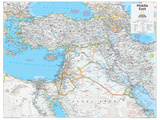 2014 Middle East - National Geographic Atlas of the World, 10th Edition Reproduction d'art