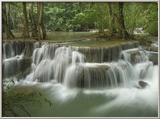 Huay Mae Kamin Waterfall, Kheaun Sri Nakarin National Park, Thailand Photo encadrée par Thomas Marent