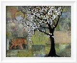 Elephant Under Tree Blossoms