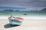Pantano Do Sul Beach and Fisherman's Boat on Florianopolis Island in Southern Brazil