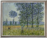 Fields in Spring, 1887 Reproduction giclée encadrée par Claude Monet