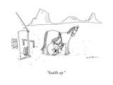 """Saddle up"" - New Yorker Cartoon"