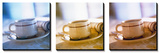 Coffee Cup Triptych Tableau multi toiles