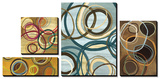 Circle Abstract Tableau multi toiles par Jeni Lee