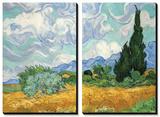 Champ de blé avec cyprès, vers 1889 Tableau multi toiles par Vincent Van Gogh