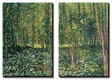 Bois et sous-bois, vers 1887 Tableau multi toiles par Vincent Van Gogh