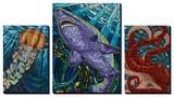Ocean Creatures Paper Mosaic