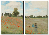 Poppy Field, Near Argenteuil, c.1873 Tableau multi toiles par Claude Monet