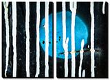 Lune bleue Tableau multi toiles par Ursula Abresch