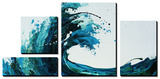 Seafoam Wave Tableau multi toiles par Sydney Edmunds