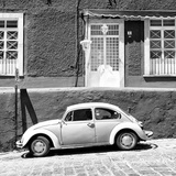 ¡Viva Mexico! Square Collection - VW Beetle Car B&W