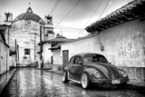 ¡Viva Mexico! B&W Collection - VW Beetle Car in San Cristobal de Las Casas